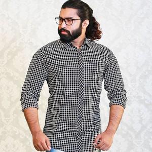Esprit Black Check Slim Fit Casual Shirt