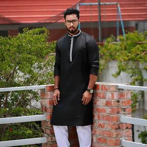 Black Gorgeous Long Panjabi
