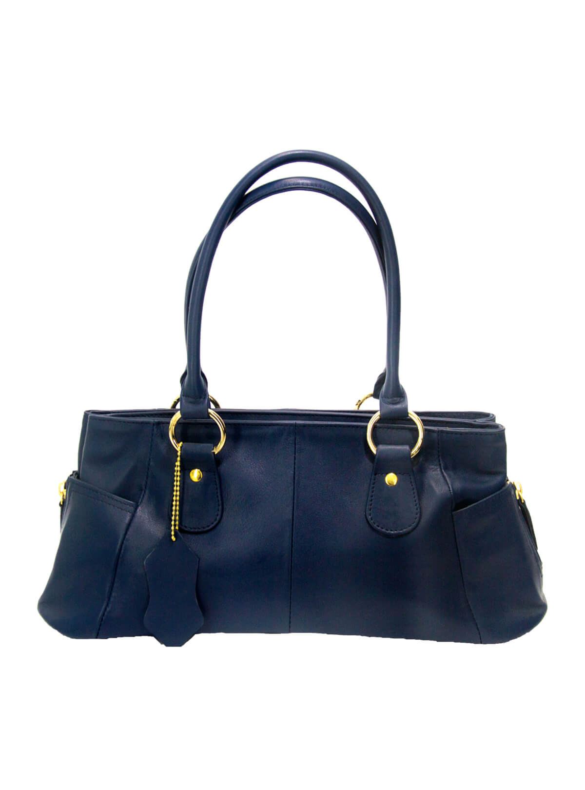Cello Blue Colour Double Strap Ladies Shoulder Handbag