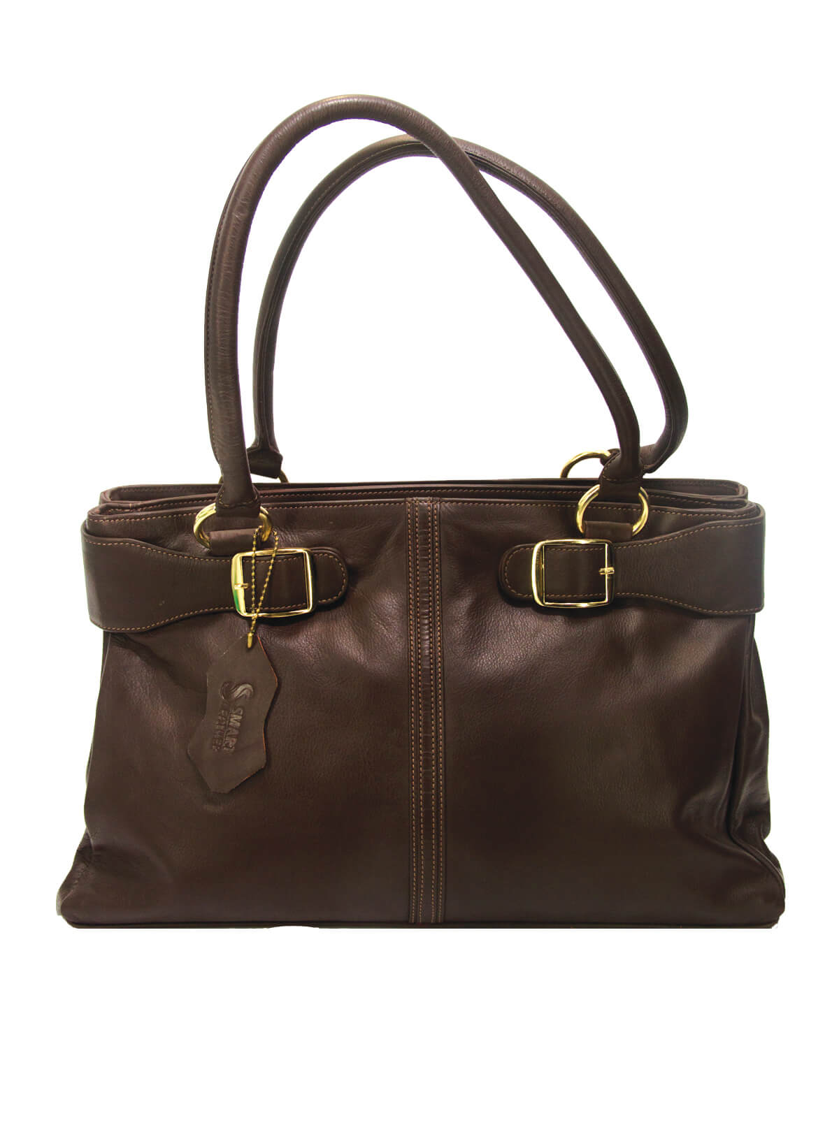 Woodburn Brown Colour Double Strap Ladies Handbag
