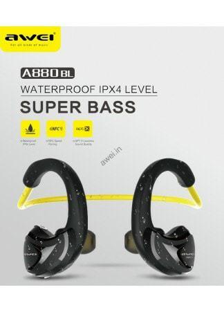 Awei A880BL Wireless Bluetooth  Headphones Sports Stereo Earphones