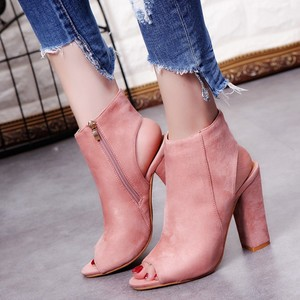 Lovebite Suede Women's Shoes High Heels Ankle Boots