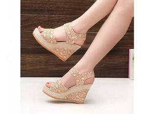 Lovebite Open Toe Fish Head Fashion platform High Heels Wedge Sandals