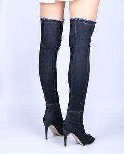 Lovebite Women Boots high heels peep toe Over The Knee Boots