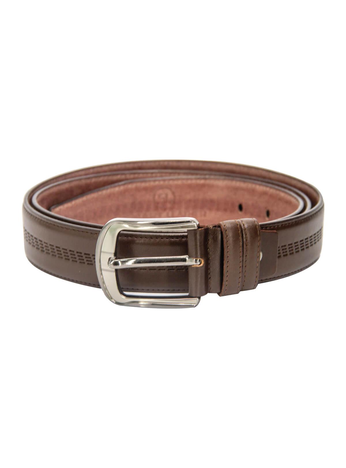 Dark Rum Leather Formal Belt For Men