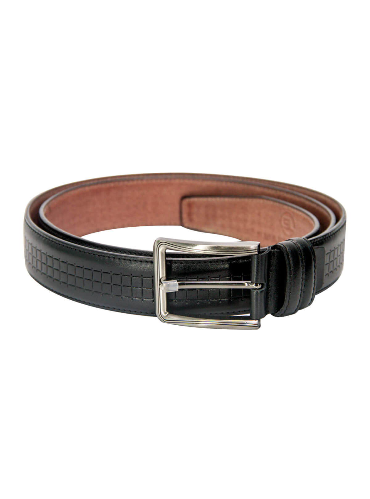Woodsmoke Grey Leather Formal Belt For Men