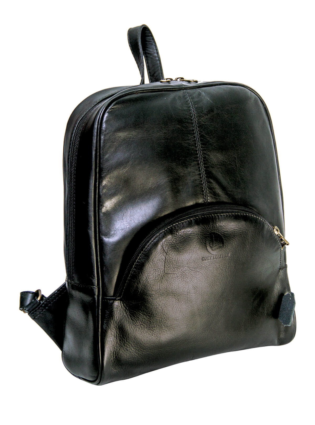 Cardin Green Leather Small Backpack