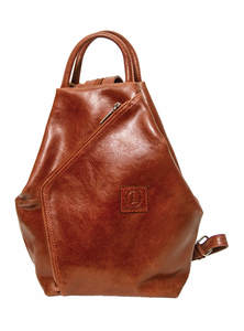 Falu Red Leather Small Backpack