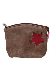 Dark Brown Leather Small Ladies Purse