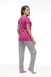 Lovebite O neck Short Sleeve (T shirt +Long Pants) Sleep Nightwear