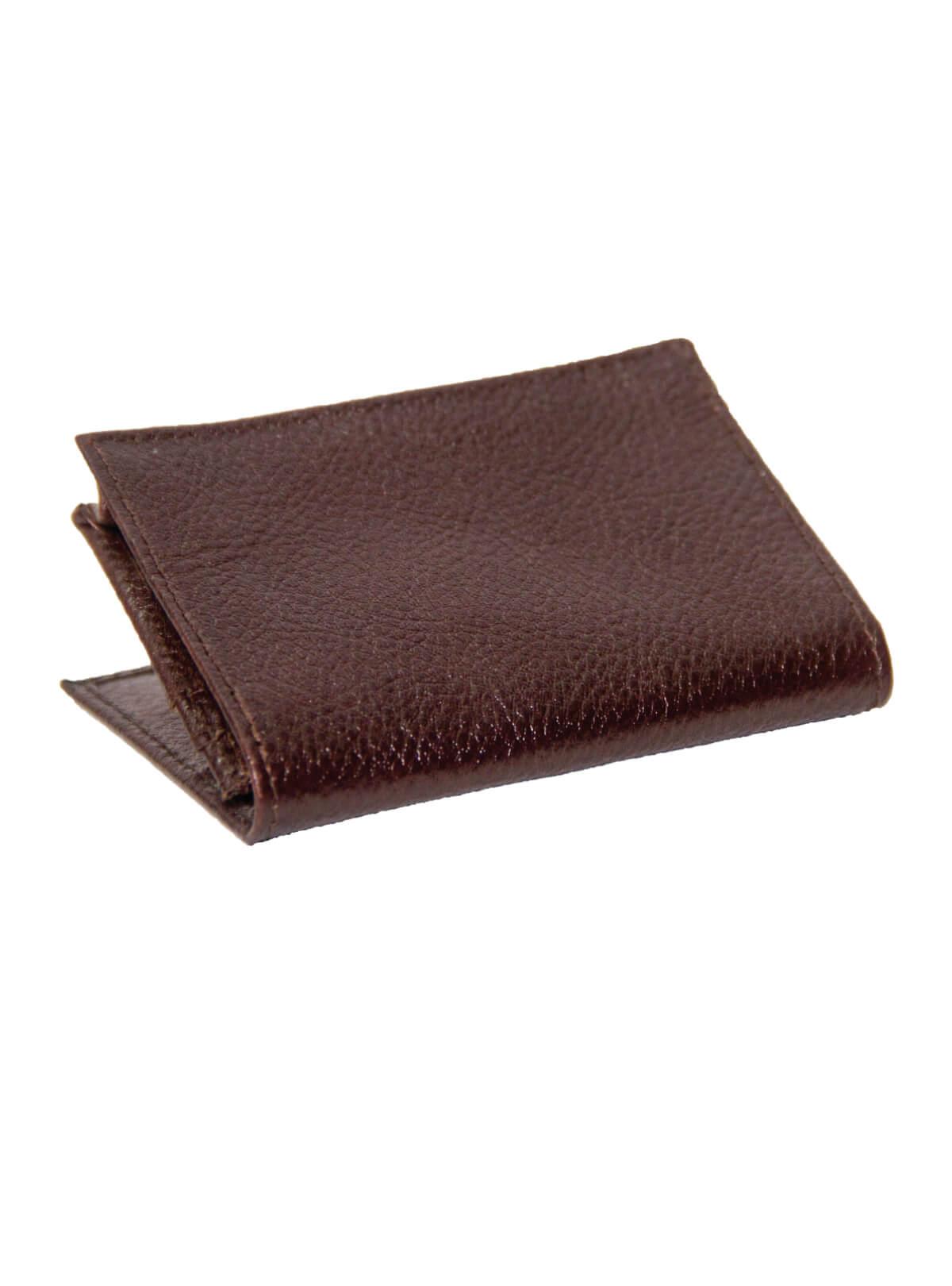 Brown Pod Leather Wallet/Card Holder