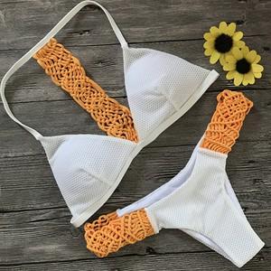 Lovebite Sexy Two pieces Crochet Bikini Set