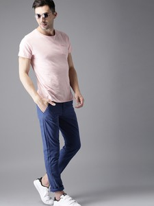 Navy Casual Gabardine Pant For Men