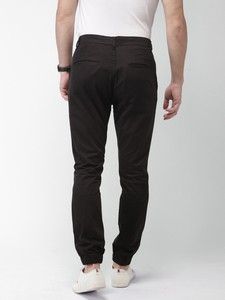 Black Casual Gabardine Pant For Men