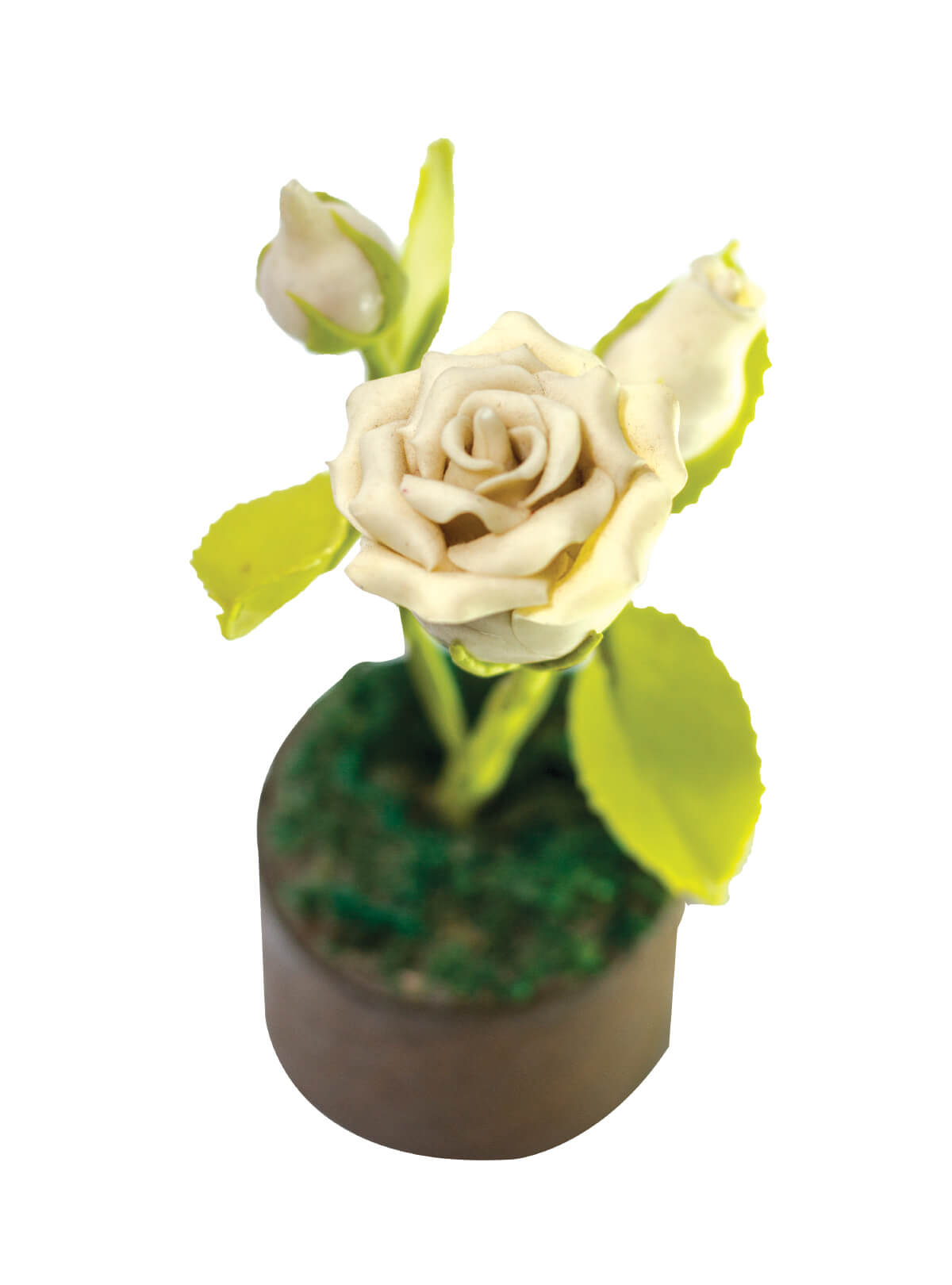 White Rose Tree Showpiece
