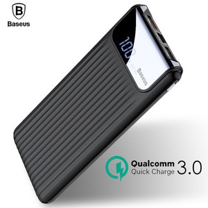 Baseus Quick Charge 3.0 Power Bank 10000mAh Dual USB LCD Powerbank