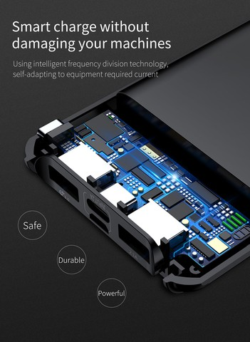 Baseus Quick Charge 3.0 Power Bank 10000mAh Dual USB LCD Powerbank