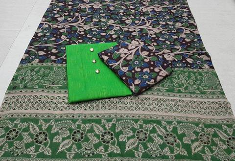 Cotton Kalamkari/Green
