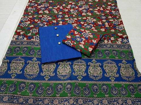 Cotton Kalamkari/Blue