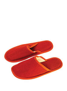 Fire Brick Red Jute Unisex Sandal