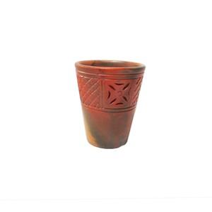 Clay Flower Glass