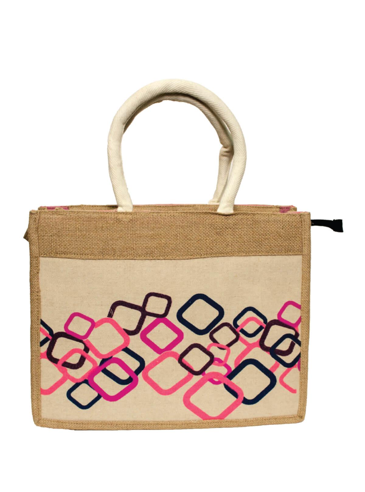 Multi-color Jute Box Bag