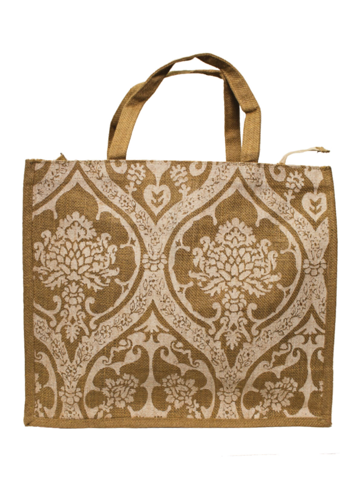 White and Brown Jute Bag
