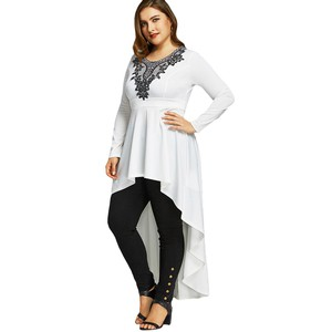 Lovebite Casual Long Sleeve Asymmetrical Loose Ladies Tops T shirts