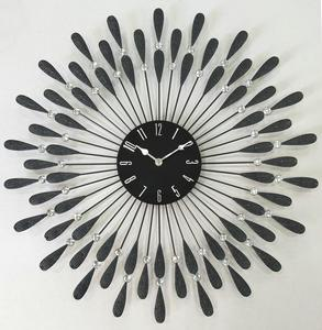 Decorative Black Drop Metal Wall Clock