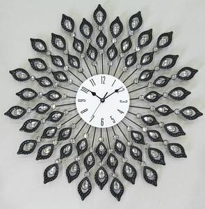 Decorative Metal Wall Clock Black