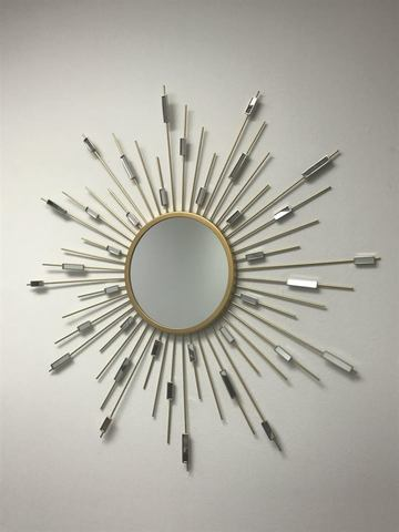Decorative Starburst Mirror Gold Finish