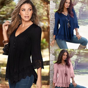 Lovebitebd Lace Crochet Long Sleeve Shirt For Women