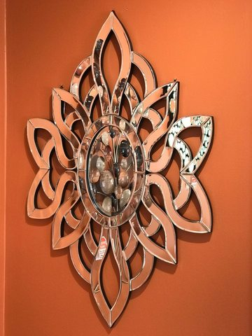 Decorative Circular Sunburst Wall Mirror