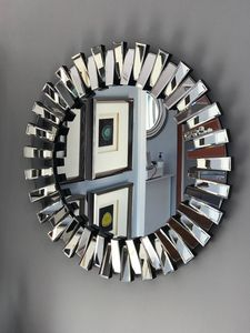 Decorative Prism Mirror With Silver Finish