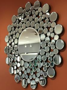 Decorative Circular Mirror With Mirrored Ball Frame