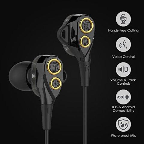 UiiSii BA-T8 HiFi Stereo Wired Earphone(Dual Driver)