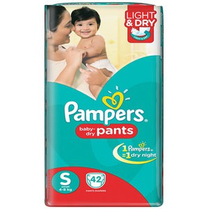Pampers Pant Style Baby Diaper (4 - 8) kg - 42 Pcs