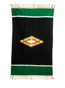 Black & Watercourse Green Multipurpose Cotton Sataranji