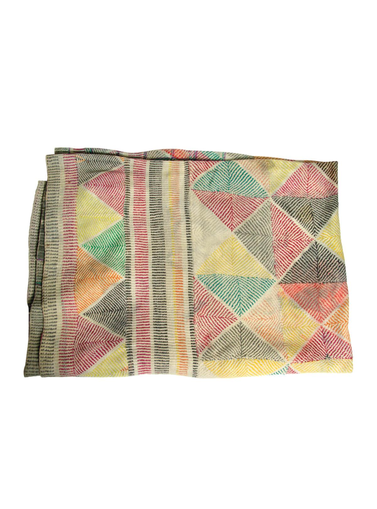 Multi-color Cotton Nakshi Kantha