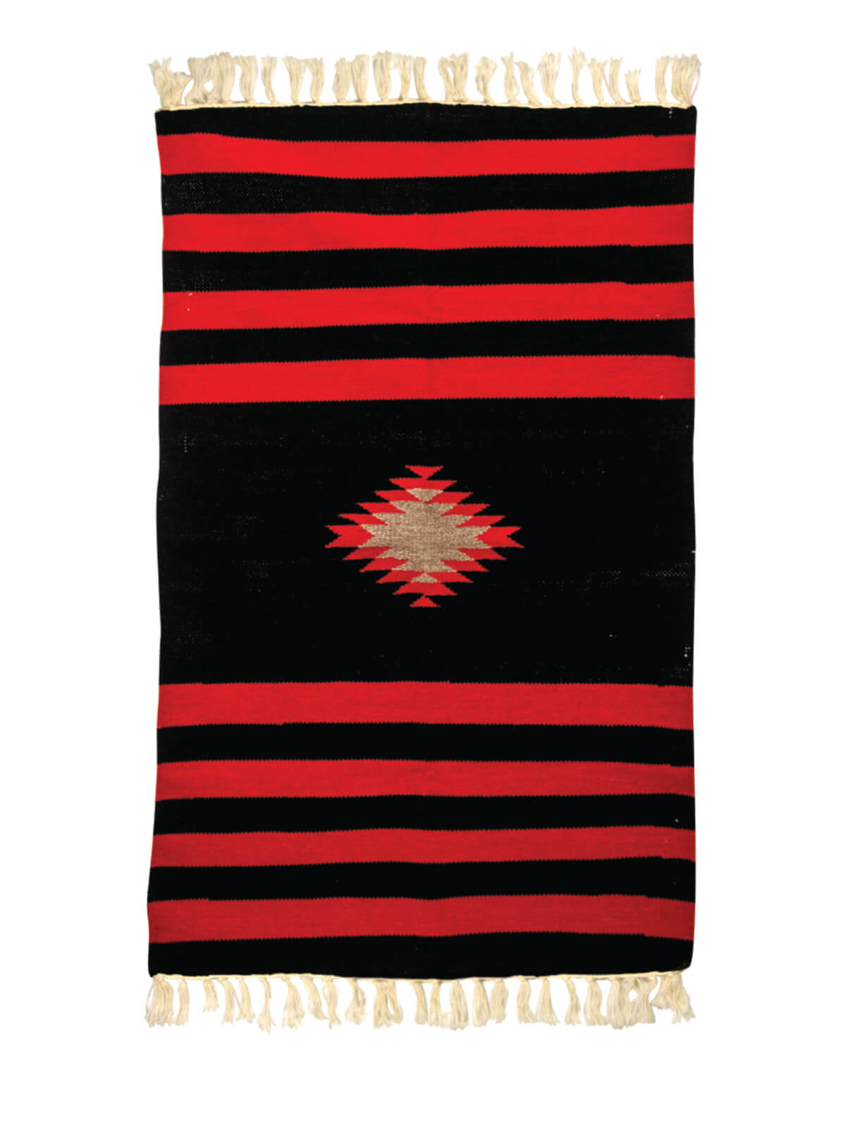 Red Black Multipurpose Cotton Sataranji