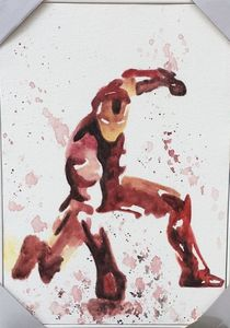 Iron Man Wall Painting Watercolor