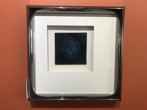 Navy Blue Agate Stone Framed Wall Display