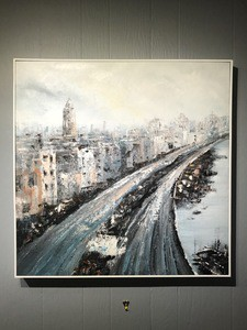 Landscape City View Oil Painting