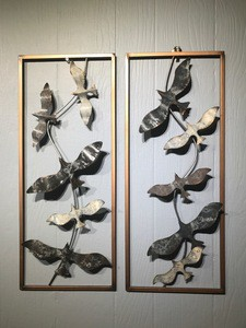Birds Metal Art (Set of 2)