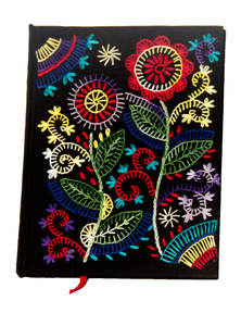 Black Flower Notebook
