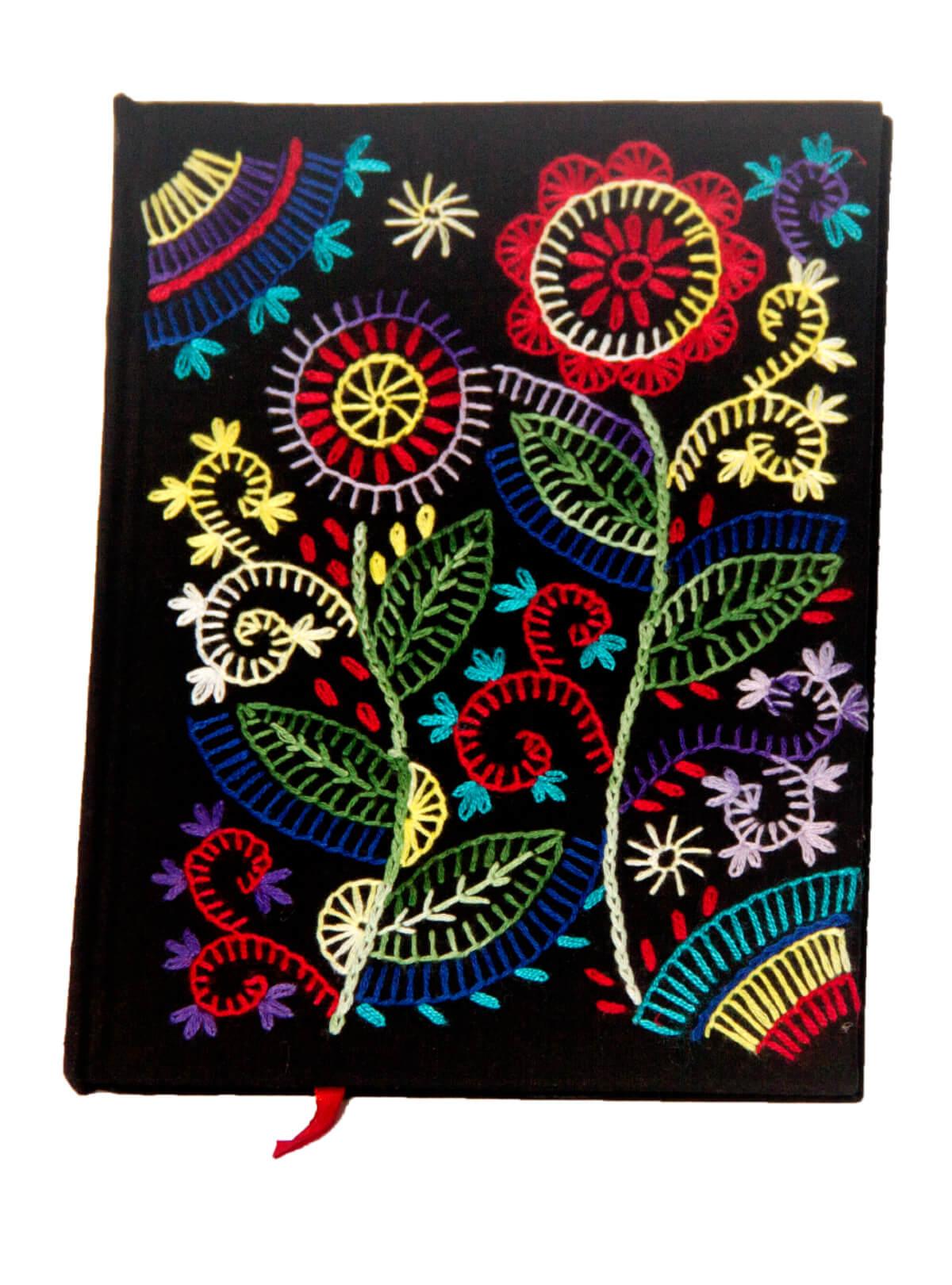 Black Flower Notebook
