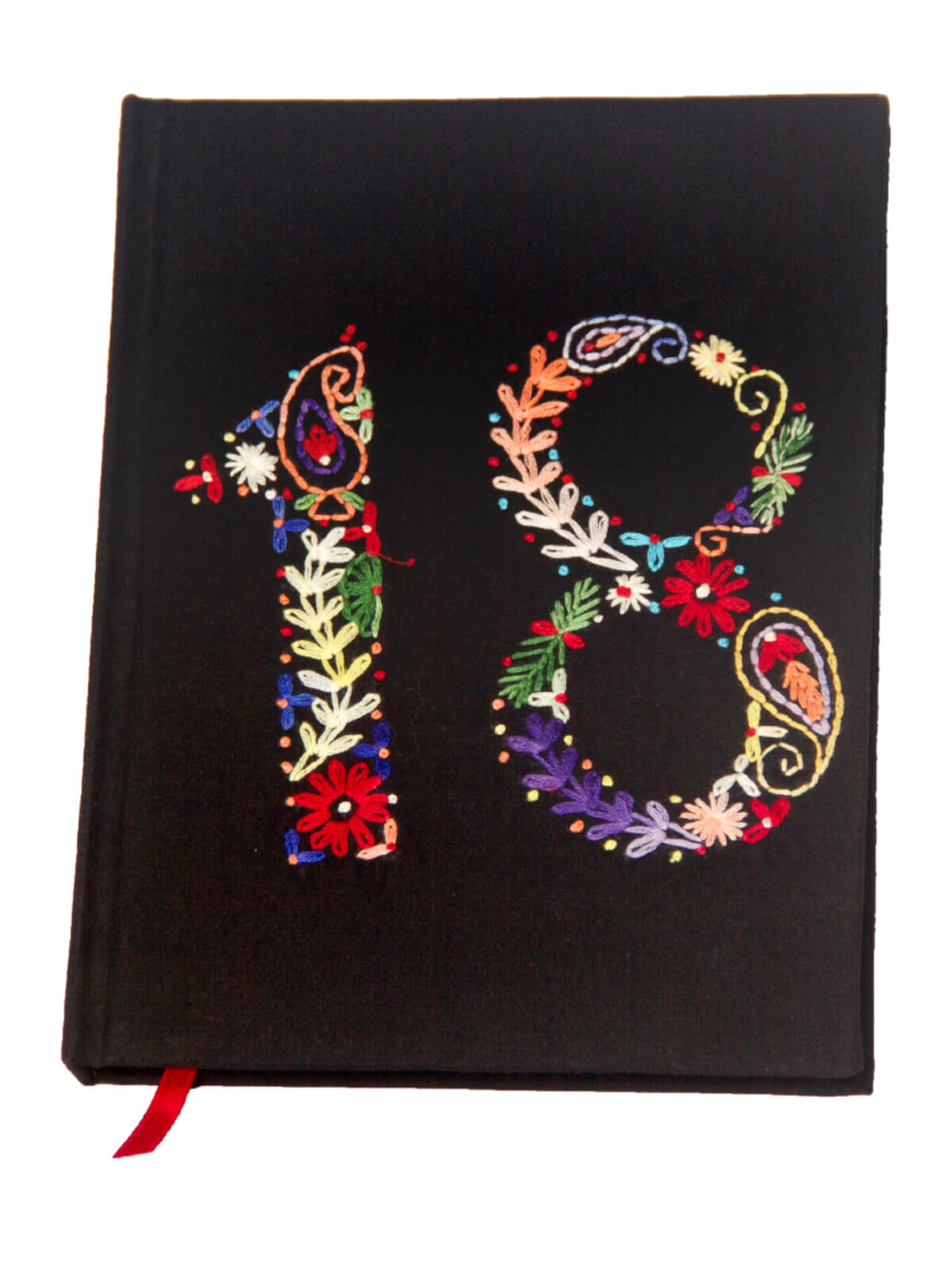 Black Hand Stitched Notebook