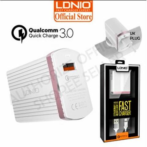 LDNIO Fast Charger Qualcomm Quick Charge 3.0 With Cable