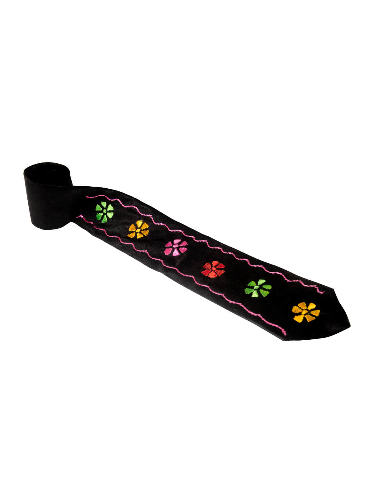Grease Black Star Flower Tie
