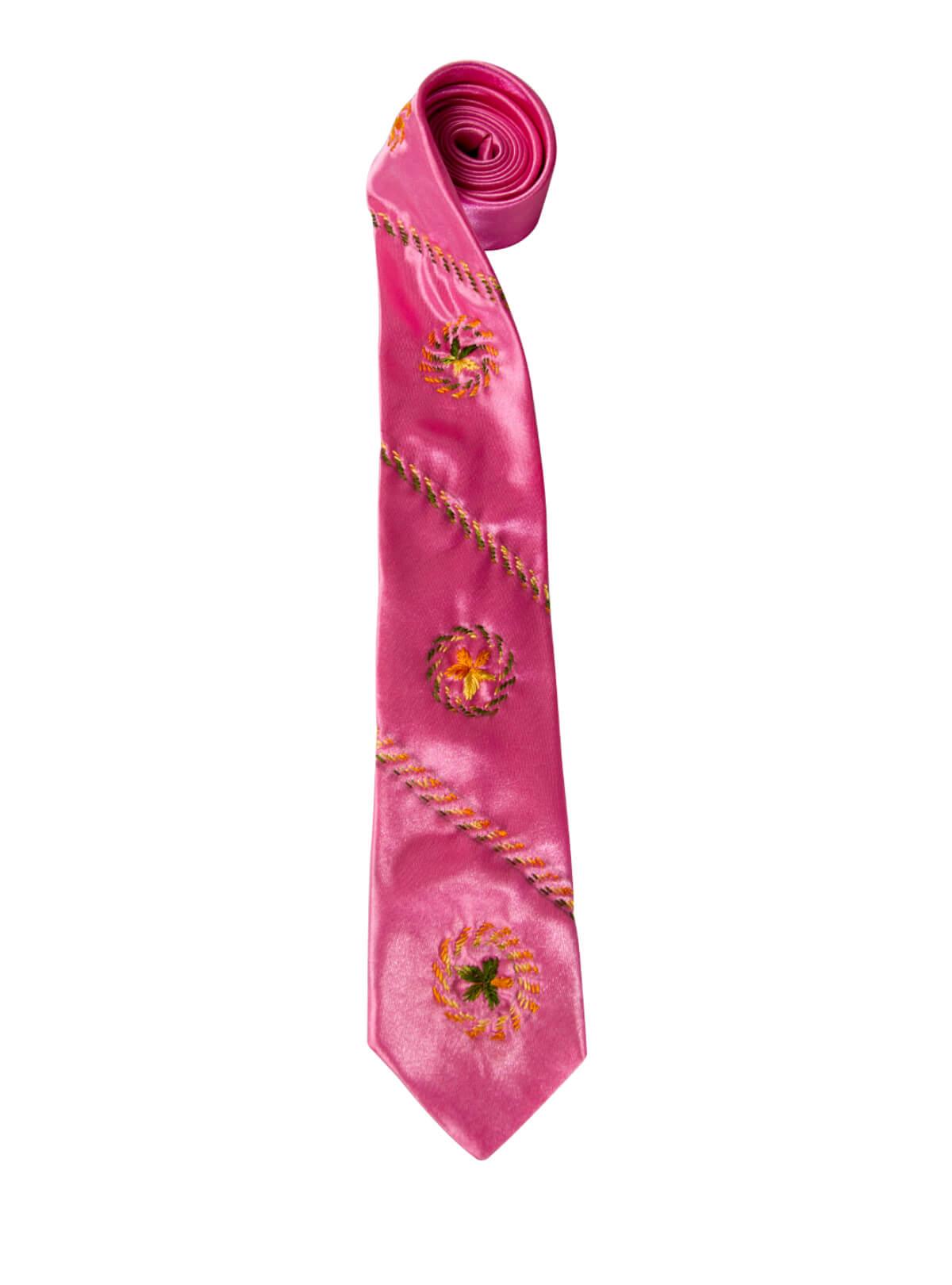 Old Rose Flower Tie